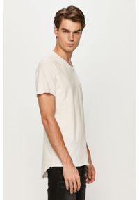 Biały t-shirt Jack & Jones casualowy, na co dzień, z okrągłym kołnierzem