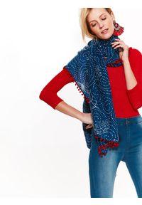 Czerwony sweter TOP SECRET z klasycznym kołnierzykiem, na wiosnę