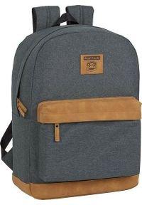 Szary plecak na laptopa