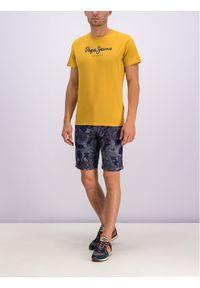Pepe Jeans Szorty materiałowe PM800741 Szary Slim Fit. Kolor: szary. Materiał: materiał
