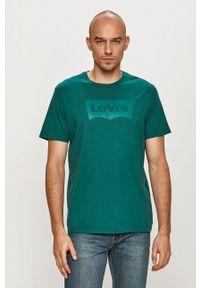 Zielony t-shirt Levi's® na spotkanie biznesowe, casualowy