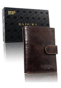 Portfel męski Badura PO_M052BR_CE. Materiał: skóra