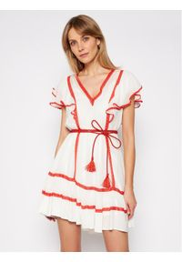 TwinSet Sukienka letnia 211TT2602 Biały Regular Fit. Kolor: biały. Sezon: lato
