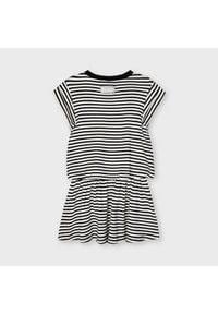 Mayoral Sukienka codzienna 3966 Biały Regular Fit. Okazja: na co dzień. Kolor: biały. Typ sukienki: proste. Styl: casual