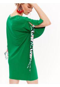 Zielona sukienka DRYWASH na co dzień, z krótkim rękawem, mini
