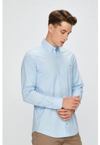 Niebieska koszula TOMMY HILFIGER długa, elegancka, button down