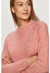 Różowy sweter only długi, casualowy