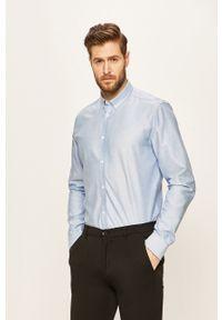 Niebieska koszula Tailored & Originals na co dzień, długa, button down, casualowa