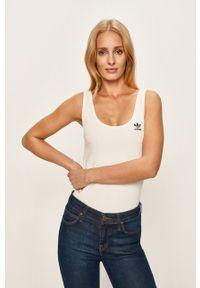 Biały top adidas Originals sportowy