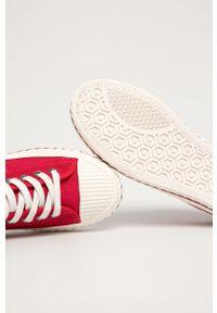 Czerwone tenisówki Big-Star na sznurówki, z okrągłym noskiem