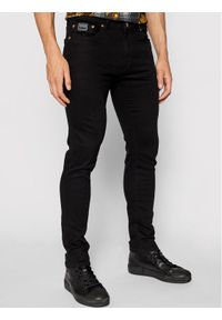 Versace Jeans Couture Jeansy London 71GAB5K1 Czarny Skinny Fit. Kolor: czarny