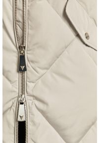 Szara kurtka Guess Jeans z kapturem, na co dzień