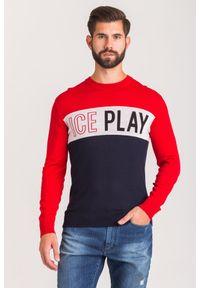 Sweter Ice Play w kolorowe wzory, z okrągłym kołnierzem