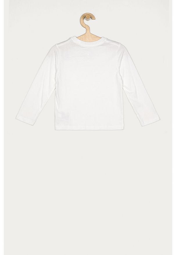 Biała koszulka z długim rękawem GAP casualowa, na co dzień, z okrągłym kołnierzem