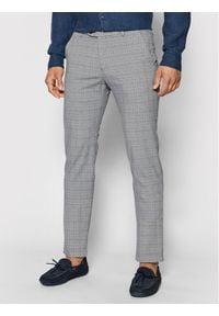 Bugatti Spodnie materiałowe 4930 76355 Szary Modern Fit. Kolor: szary. Materiał: materiał