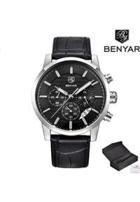 Zegarek BENYAR Royal srebrny czarny (BY5104). Kolor: czarny, srebrny, wielokolorowy