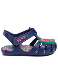 Niebieskie sandały zaxy z aplikacjami, na lato