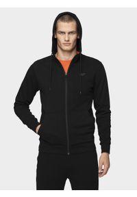 Czarna bluza rozpinana 4f z kapturem, casualowa, na jesień