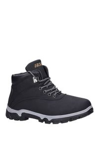 Czarne buty trekkingowe Casu #1