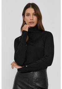 Guess - Sweter. Typ kołnierza: golf. Kolor: czarny. Długość rękawa: długi rękaw. Długość: długie