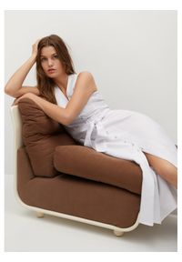 mango - Mango Sukienka letnia Iri 17091098 Biały Regular Fit. Kolor: biały. Sezon: lato
