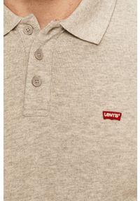 Szara koszulka polo Levi's® melanż, na spotkanie biznesowe