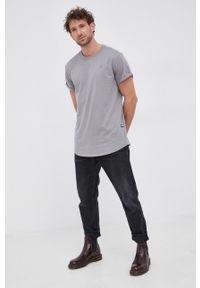 G-Star RAW - G-Star Raw - T-shirt/polo D16396.B353. Typ kołnierza: polo. Kolor: szary. Materiał: dzianina