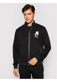 Karl Lagerfeld - KARL LAGERFELD Bluza Zip 705003 511900 Czarny Regular Fit. Typ kołnierza: dekolt w karo. Kolor: czarny