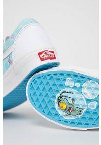 Vans - Tenisówki x Spongebob. Nosek buta: okrągły. Zapięcie: sznurówki. Kolor: biały. Materiał: guma