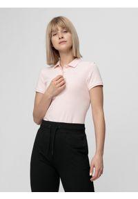 4f - Koszulka polo damska. Typ kołnierza: polo. Materiał: materiał. Długość rękawa: krótki rękaw