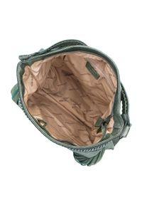 Zielona torebka worek Wittchen boho, na jesień