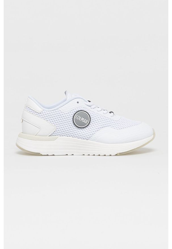 Colmar - Buty. Nosek buta: okrągły. Kolor: biały. Materiał: syntetyk, materiał. Szerokość cholewki: normalna. Obcas: na obcasie. Wysokość obcasa: średni