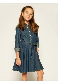 Niebieska sukienka Lauren Ralph Lauren prosta, casualowa, na co dzień