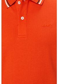 Pomarańczowa koszulka polo Geox casualowa, polo, na co dzień