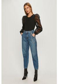 Niebieskie jeansy only z podwyższonym stanem
