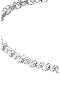 Srebrna bransoletka Swarovski z aplikacjami, z kryształem