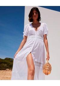 CHARO RUIZ IBIZA - Sukienka maxi z koronką Thelma. Kolor: biały. Materiał: koronka. Wzór: koronka. Długość: maxi