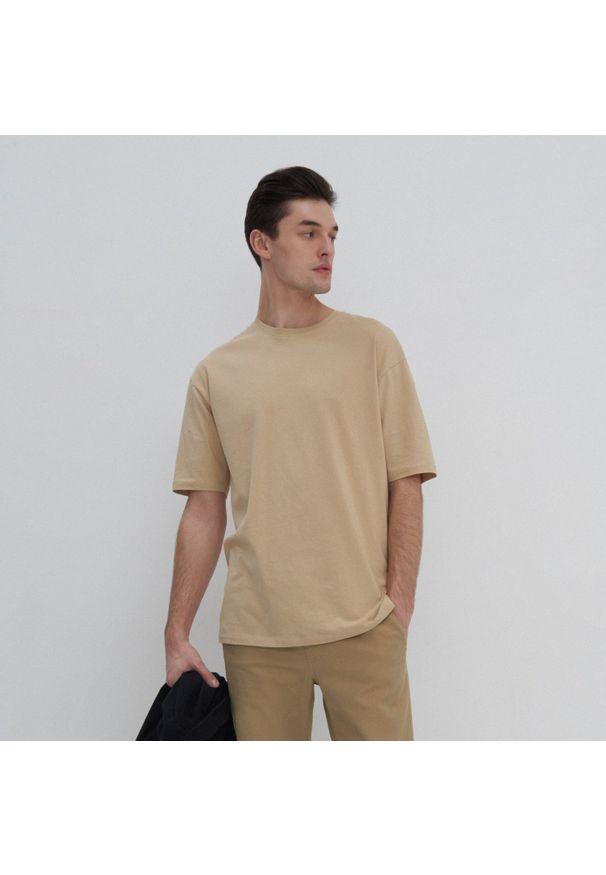 House - Koszulka oversize basic - Beżowy. Kolor: beżowy