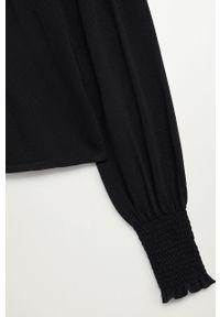 Czarny sweter mango na co dzień, długi, casualowy, z golfem