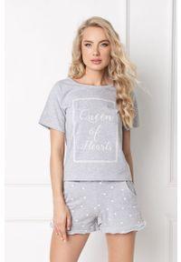 Szara piżama Aruelle z nadrukiem
