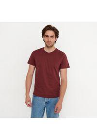 House - Koszulka z bawełny organicznej basic - Bordowy. Kolor: czerwony. Materiał: bawełna