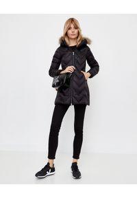 Hetrego - HETREGO - Czarny płaszcz puchowy Evette. Kolor: czarny. Materiał: puch. Styl: sportowy, elegancki #6