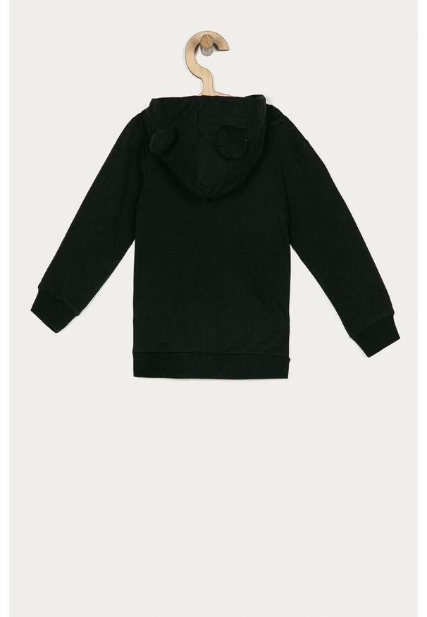 Czarna bluza Name it z kapturem, na co dzień, z nadrukiem