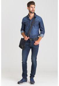Niebieska koszula JOOP! Jeans na lato, casualowa