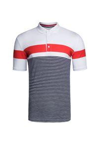 Biała koszulka polo Napapijri z nadrukiem, polo