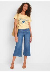 Dżinsy 3/4 culotte bonprix niebieski. Kolor: niebieski