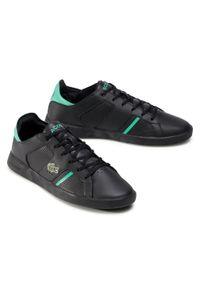 Lacoste - Sneakersy LACOSTE - Novas 0120 1 Sma 7-40SMA00121B4 Blk/Grn. Okazja: na co dzień. Kolor: czarny. Materiał: skóra ekologiczna, materiał. Szerokość cholewki: normalna. Styl: casual, sportowy
