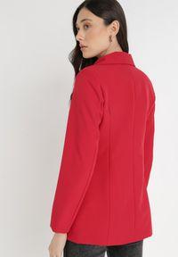 Born2be - Czerwona Marynarka Ianthathe. Kolor: czerwony. Materiał: jeans, materiał #6