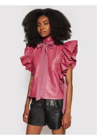 Custommade Bluzka Starla 212418102 Różowy Regular Fit. Kolor: różowy