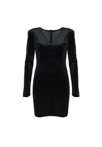 """Guess Sukienka """"Gemma"""". Materiał: tkanina. Długość rękawa: długi rękaw. Typ sukienki: dopasowane. Długość: mini"""